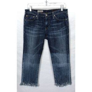 Adriano Goldschimed The Crop Frayed Jeans